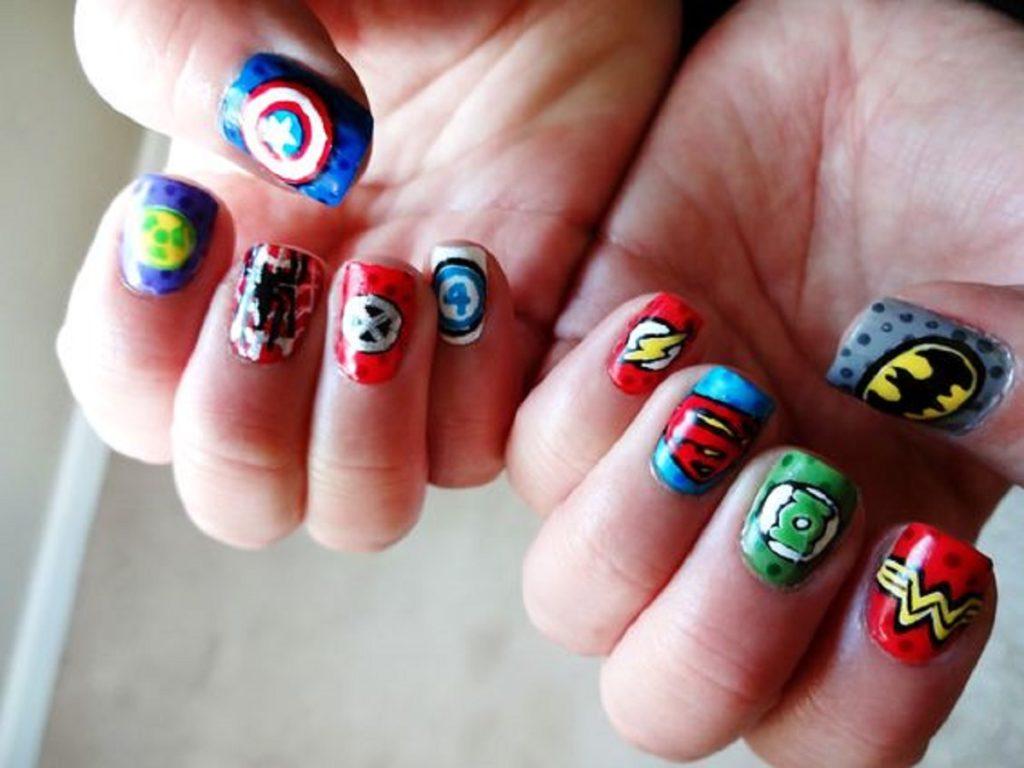 Ideas De Estilos De Uñas De Superhéroes Te Encantarán